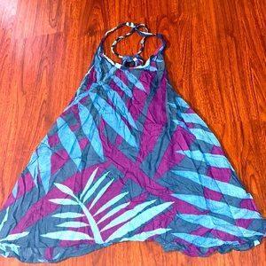 Purple blue and aqua cover up one size